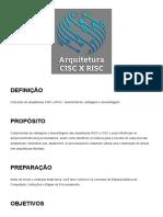 6 - Arquitetura CISC X RISC