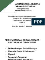 Sbi 2011-Sesi 1-Perkemb Sos-bud Masy Indonesia