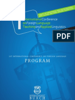 1st International Conference on Foreign Language Teaching and Applied Linguistics ( Sarajevo, 5-7 May 2011)