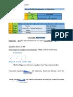 5.2 Satzstruktur Angaben, ihre Reihenfolge und Stellung in Satz