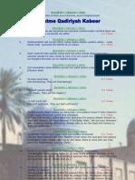 Khatm-e-Qadiriyah Kabeer in English