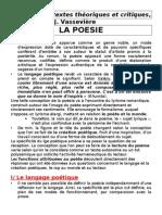 La poésie - Littérature, textes théoriques et critiques, Toursel et Vassevière (#)