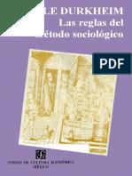 01 - Las Reglas Del Metodo Sociologico - Emile Durkhein - PDF