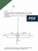 Ship Stability Trim