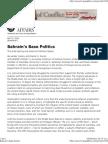 Bahrain's Base Politics