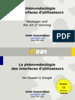 La Phenomenologie Des Interfaces Utilisateur
