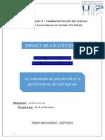 La motivation du personnel et la performance de l'entreprise