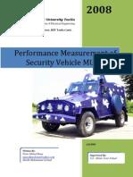 Performance Measurment Security Vehicle MUHAFIZ