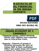 AFTER-EFFECTS OF GLOBAL FINANCIAL CRISIS ON INDIAN EXPORTS