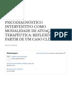 Psicodiagnóstico interventivo como modalidade de atuação terapêutica_reflexões a partir de um caso clínico