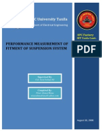 Performance Measurement of Suspension System Installation of M113 Armoured Personal Carrier