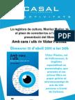 Invitació regidoria de cultura Vallromanes. Presentació llibre. Víctor Pàmies