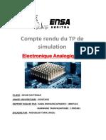 Electronique Analogique 2 RAPPORT