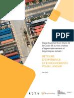 Impact Presents Et Futurs de La Covid 19 Sur Les Chaines d'Approvisionnement Et Pratiques d'Achats