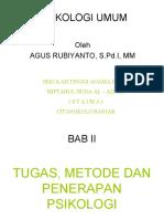 Tugas, Metode dan Penerapan Psikologi (Bab II)