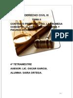 II.CONTRATO PREPARATORIO, LA PROMESA CONCEPTO, CLASIFICACIÓN HISTORIA Y FIGURAS AFINES.D.C.III