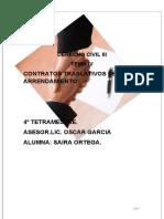 IV.CONTRATOS TRASLATIVOS DE USO ARRENDAMIENTO.D.C.III