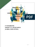 V.CONTRATOS VINCULADOS CON LA PRESTACION DE SERVICIOS.D.C.III
