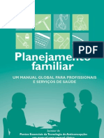 Planejamento Familiar manual global para prof saude