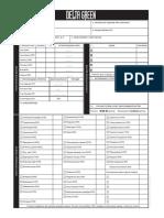 Character Sheet Printer Friendly Form - List Personazha Zapolnyaemye Formy Dlya Pechati