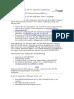 IIS 6.0 application settings