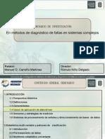 aplicaciones en Detección y diagnostico de fallas en sistemas complejos (data driven)