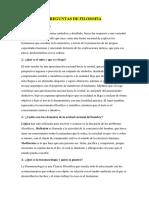 PREGUNTAS DE FILOSOFIA Y ORGANIZADOR VISUAL