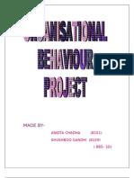 Motivation-organisational behaviour