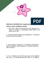 EJERCICIOS  MATEMÁTICOS