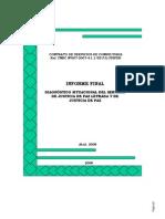 Informe Final Diagnóstico Situacional del Servicio de Justicia de Paz Letrada y de Justicia de Paz
