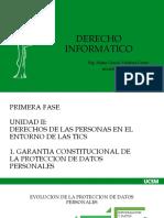 UCSM. UNIDAD II DERECHOS DE LAS PERSONAS EN EL ENTORNO DE LAS TICS