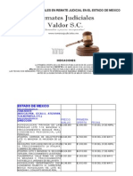 Remates Judiciales en el Estado de México