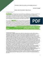 Coraggio- Principios, instituciones y practicas de la economia social y solidaria