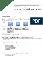 Coletar mais dados de diagnóstico em testes manuais