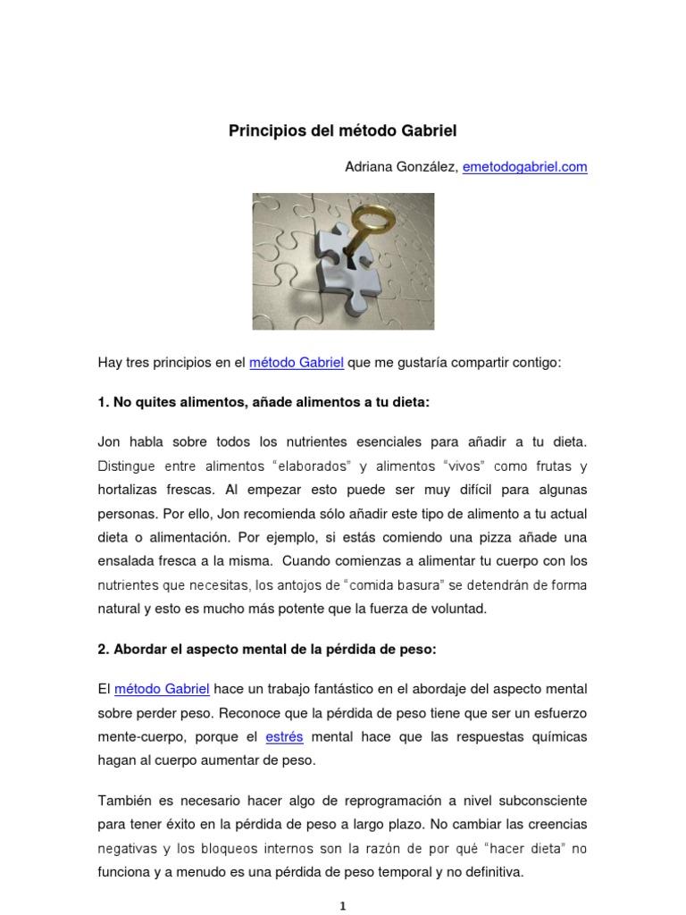 metodo gabriel para adelgazar en español