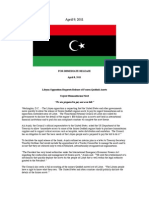 Press Release- Libyan Opposition Requests Release of Frozen Qaddafi Assets