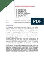 POST OPERATORIO DE CIRUGIA CARDIOVASCULAR
