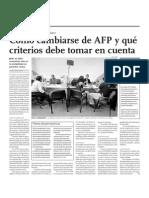 Cómo cambiarse de AFP