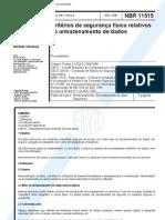 NBR 11515 NB 1334 - Criterios de seguranca fisica relativos ao armazenamento de dados