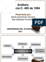 Sentencia C-495 del 94 (Exposición)