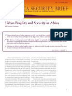Urban Fragility and Security in Africa