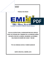 Cálculo Estructural e Hidrosanitario Del Edificio Para Las Oficinas Del Comando de La III Brigada