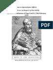 Cum Ex Apostolatus Officio - On Error in Respect of the Faith ( Pope Paul IV )