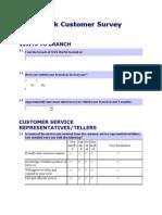 Bank Customer Survey