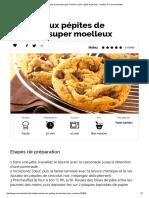 Cookies aux pépites de chocolat super moelleux, facile, rapide et pas cher _ recette sur Cuisine Actuelle