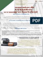 Instrumentos de TGA (Análisis termogravimétrico)