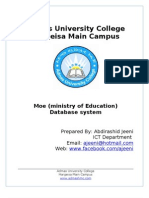 Ministry of Education Database System. By- Abdirashid Jeeni