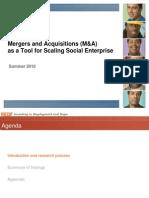 Final - SANITIZED - M&A as a Tool for Scaling Social Enterprises