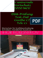 Der Universale Wortschatz 2020 Neu Dsh Prfung Test Daf Goethe c2 Telc c1 Wortschatz Fr Grafikbeschreibung Schreiben Mndlichen Ausdruck German Edition