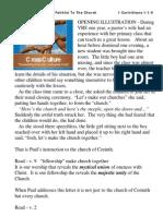 "Cross Culture Series - ""God Is Faithful To The Church"" - 1 Corinthians 1vs1-9"